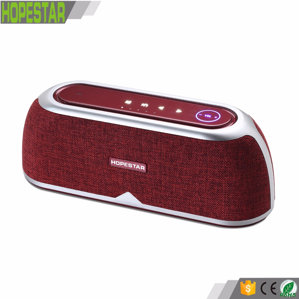 Hopestar A4 10W*2 Portable Wireless Outdoor Bluetooth Speaker bocina with Enhanced Bass, Built in Mic,touch pad