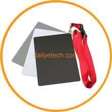 Camera Accessories 3 in 1 Digital Grey Card White Black 18% Gray Color White Balance with Strap from dailyetech