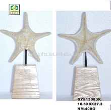 Resin promotional artificial white starfish