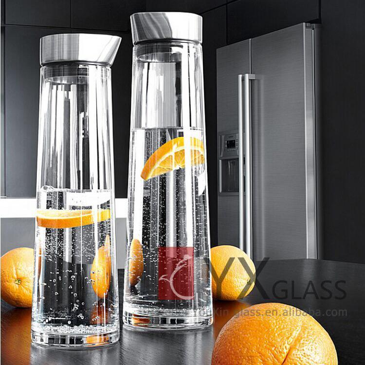 1000 ml 1500 ml glazen karaf met siliconen cap koude for Hittebestendig glas