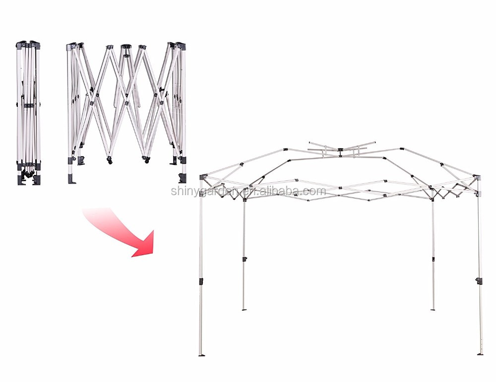 10x10ft Easy Pop Up Gazebo Canopy Tent with Double Roof