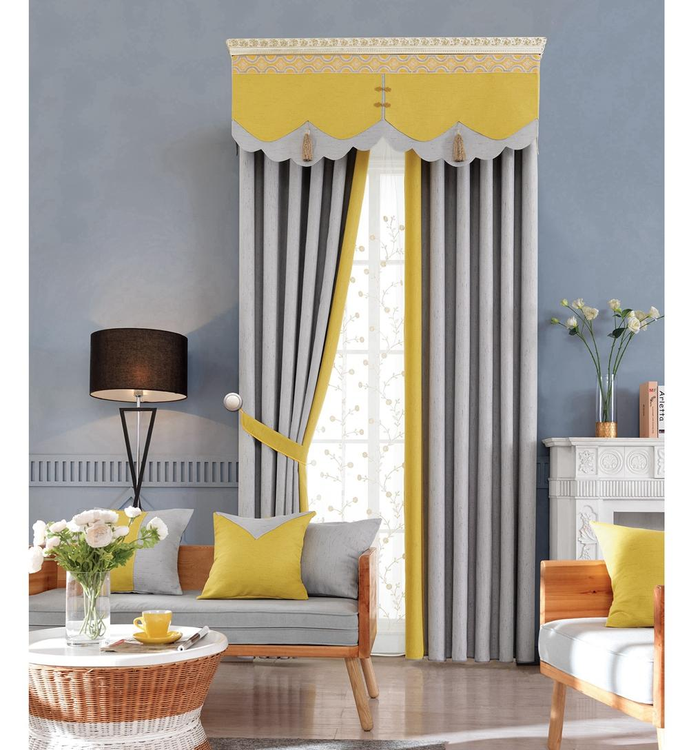 China factory suppliers simple style blackout window curtains fabric
