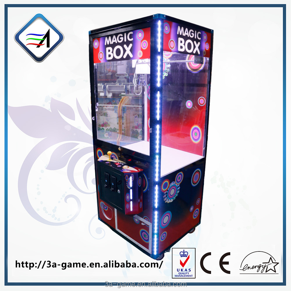 Coin operated Magic Box toy box arcade claw crane vending machines for sale