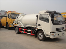 High pressure 4x2 sewage suction truck 10000 Liters vacuum pump sewer dredging truck vacuum suction truck for sale