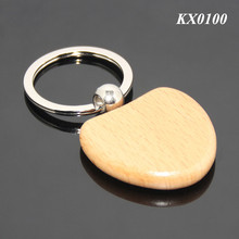 FREE SAMPLE Wholesale Or Custom Wooden Material Key Tag Holder Ring Wedding Gifts Souvenir Heart Shaped Blank Wood Key Ring