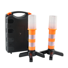 LED Emergency Roadside Flashing Flares Magnetic Base Safety Strobe Light Whit for Car Marine Vehicles Trucks