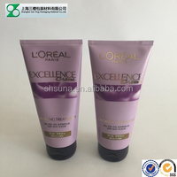 plastic cosmetic hair conditioner packing tube with rotogravure printing and stamping