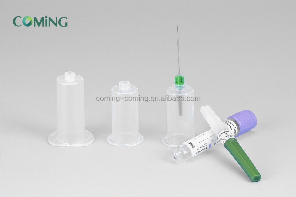 disposable blood collection needle / needle holder / tube