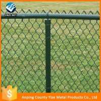 Alibaba hot sale china High Quality treated wood type chain link fence