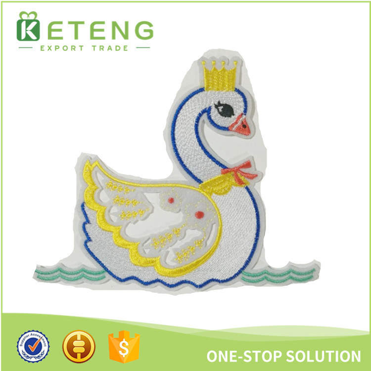 Custom cheap fish duck cartoon hot melt adhesive film for embroidery patch