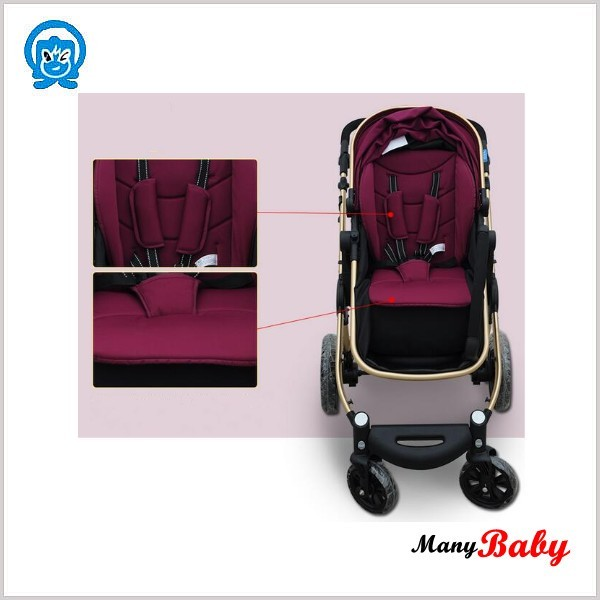 25kg limited weight high landscape baby stroller+baby bed 2 in 1