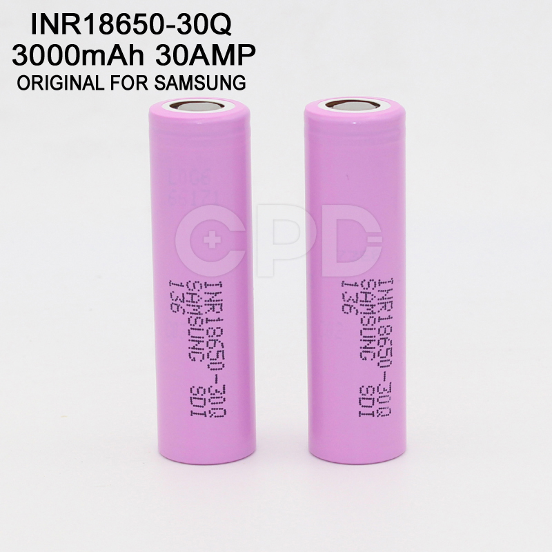 Original 3000mAh INR18650-30Q Rechargeable Li-ion Battery Cell for Sony 18650 30Q Battery