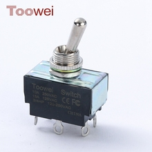 New arrival 10A 250V AC dpdt heavy duty electrical toggle switch
