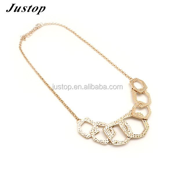 Guangzhou brazilian new bijoux product necklace jewelries women in alloy