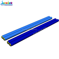 long inflatable water park tube floating cylinder tube