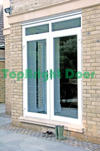 2017 new design double glass exterior aluminium out swing commercial steel french doors