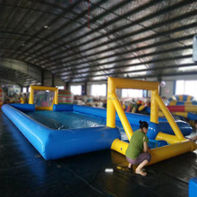 Cheap air tight inflatable football field/inflatable water soccer field for sale,inflatable soap football field