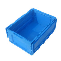 Household Light Blue Plastic Container with Lid