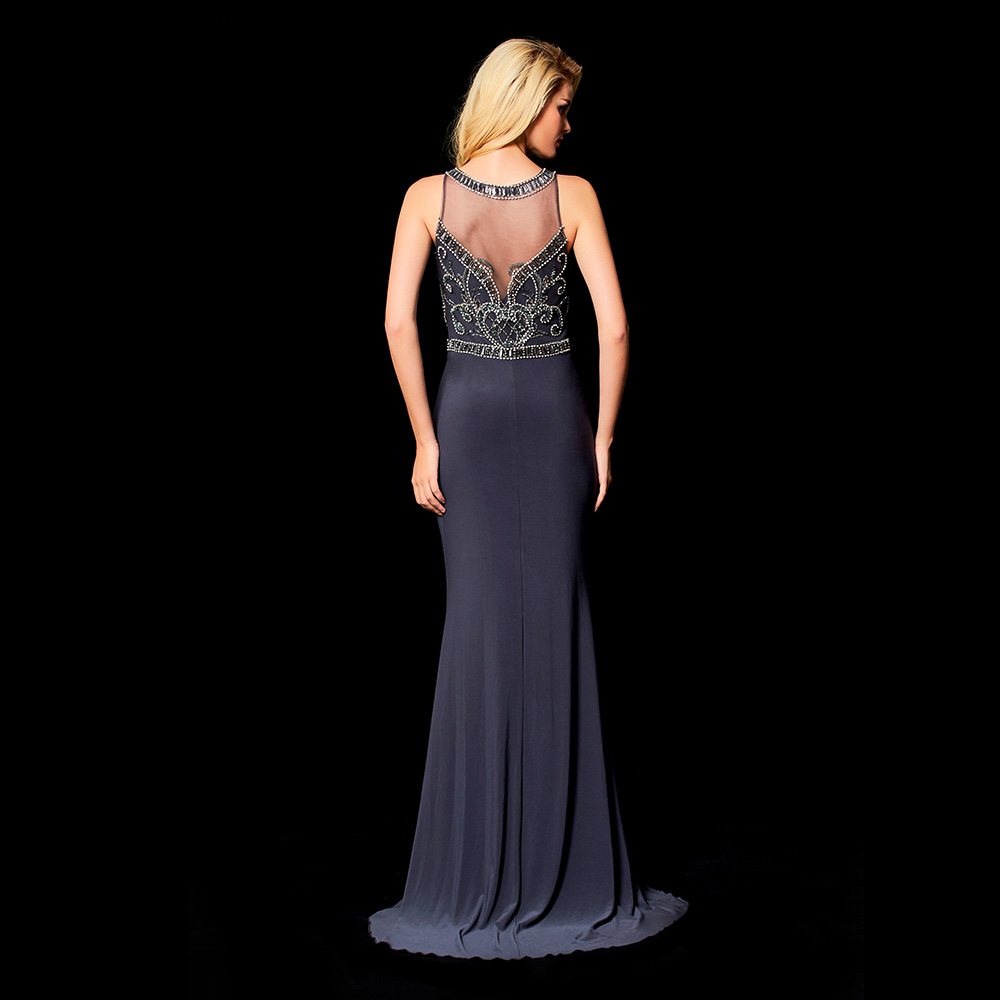 Robes de soiree 2019 Beaded Prom Dresses Long Evening Dress Mermaid Evening Gown Fishtail Paty Gown Vestidos De Fiesta