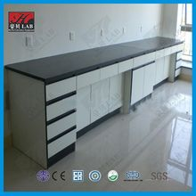 all wood lab table/lab wall bench dental furniture