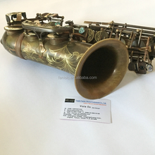 Antique Coloured Saxophone Alto Saxophone with Engraving Bell
