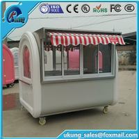 China Mobile Food Kiosk / Food Trolley / Food And Beverage Cart