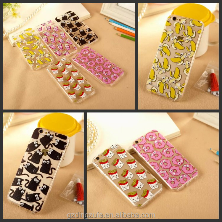new products mobile phone case for iphone 5s covers with moving eyes