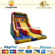 Large inflatable slip n slide with yellow color/giant inflatable slide for sale