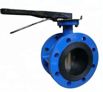 TIANJIN Manufacturing Ductile cast iron Manual Concentric Lug Wafer Butterfly Valve