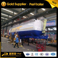 50ton bulk power cement tank or tipper tanker truck trailer in China