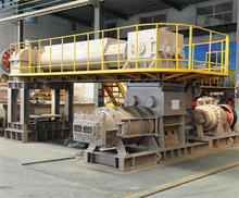 New technology automatic in clay brick production line with road curb machine
