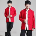 double-faced cotton chinese traditional kung fu top uniform