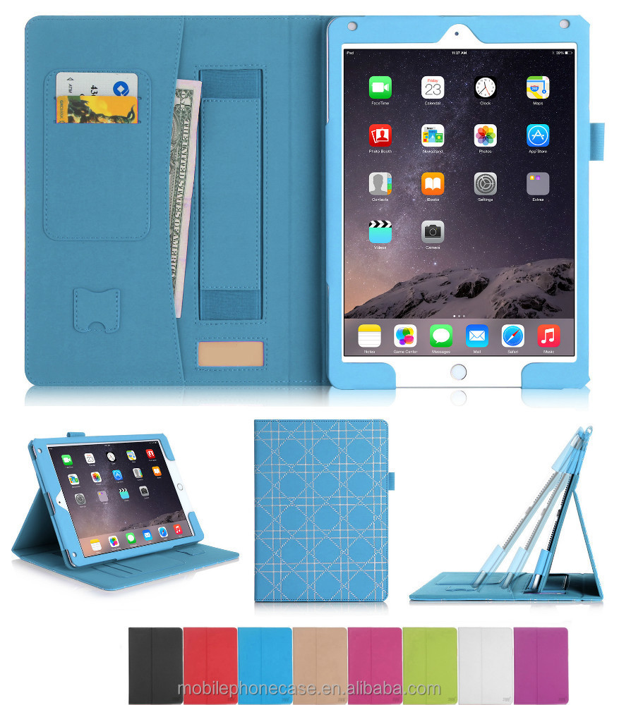Soft touch coating kid proof tablet protective case for iPad Air 2
