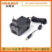 EI41 wall mount 12v 600ma linear power adaptor.