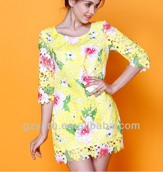chinese imports wholesale printed flower dress