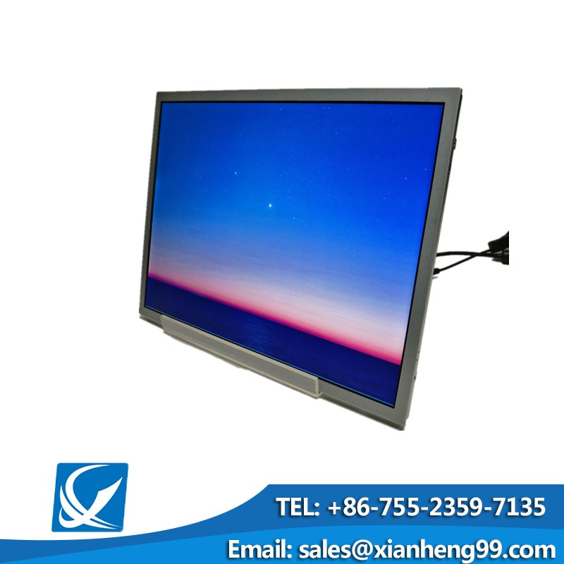 Custom logo 15 inch lcd panel with lvds cable for supermarket use
