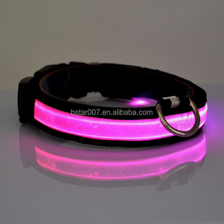 LED usb rechargeable dog collars flashing led dog collars for chrismas