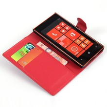 Credit Card Holder Custom Mobile Phone Flip Case Cover For Nokia Lumia 520