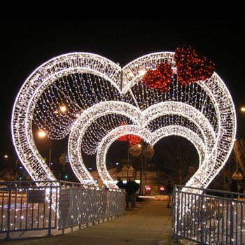Factory dierct sale LED light christmas decoration arch light weddings street deocration light