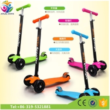 height can be ajust kids scooter three wheel / three wheel colorbox baby kids scooters with rubber wheels pedal