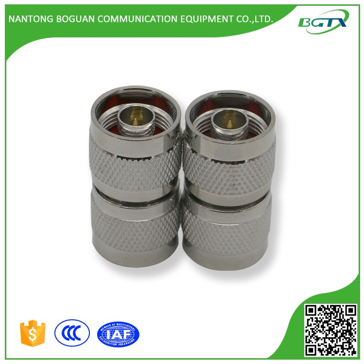 N type double male RF connector for 1/2 coaxial cable