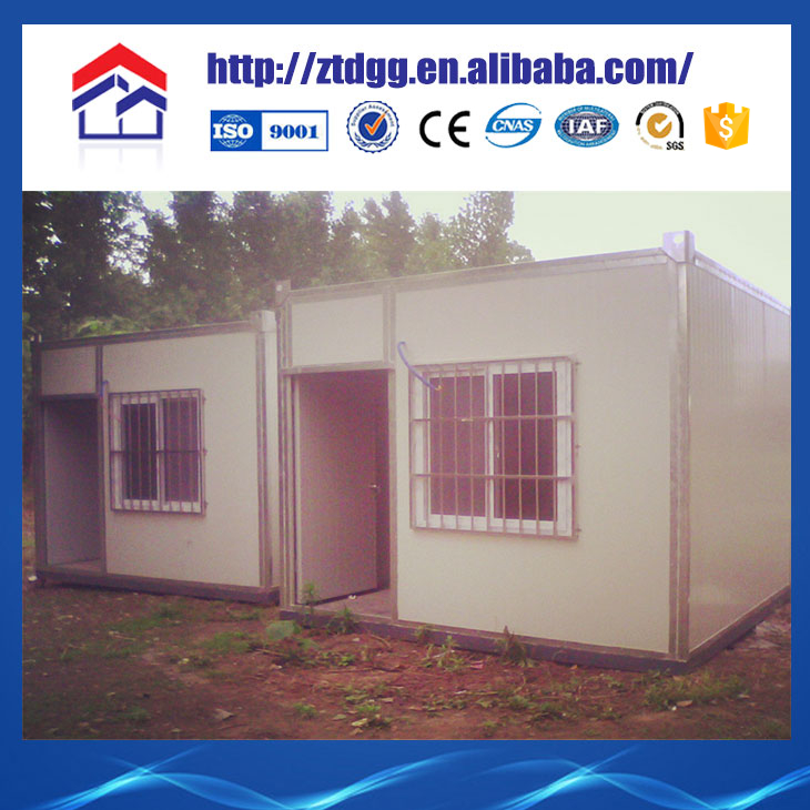 Container house with colored sheet metal