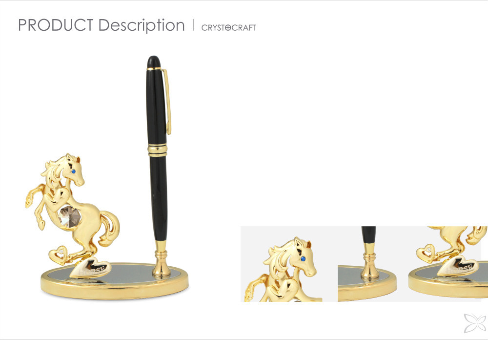 Newest Quaint Gold Plated Metal Pen Holder For Gift