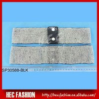 Fashion Silver Ladies Dressing Elastic Beaded Belts