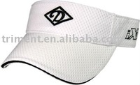 Polymesh and cotton sports sun visor cap