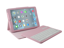 New Child Bluetooth keyboard with leather case for iPad Air