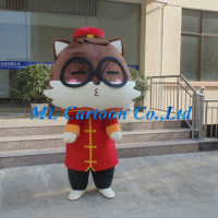 High quality new designed customized brown and red big head mouse adults mascot costume for carnival