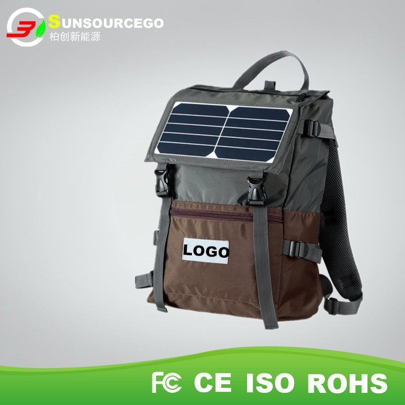 High quality Camping Hiking Solar Bag ,solar plate Travelling Solar Back Pack Bag with good price