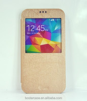 New leather case for Samsung Galaxy S5 flip cover with window