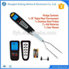 lcd displayfork food turkey chicken beef thermometer with 2 probe